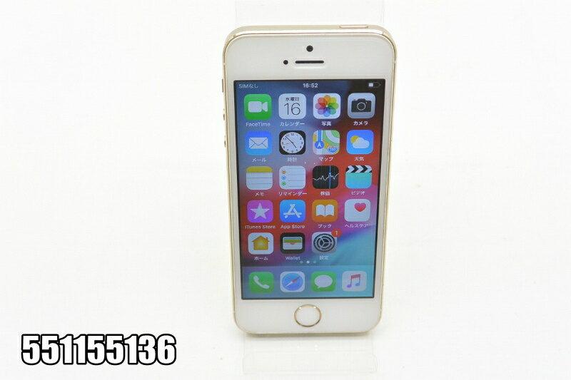 白ロム SoftBank Apple iPhone 5s 16GB iOS12.1.2 Gold ME334J/A 初期化済 【551155136】 【中古】【K20190214】