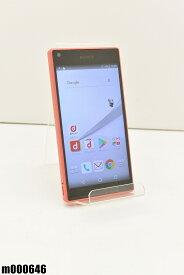 白ロム docomo SONY Xperia Z5 Compact 32GB Android7 コーラル SO-02H 初期化済 【m000646】 【中古】【K20190510】