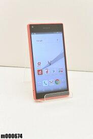 白ロム docomo SONY Xperia Z5 Compact 32GB Android7 コーラル SO-02H 初期化済 【m000674】 【中古】【K20190510】