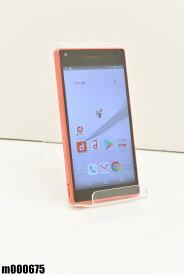 白ロム docomo SONY Xperia Z5 Compact 32GB Android7 コーラル SO-02H 初期化済 【m000675】 【中古】【K20190510】