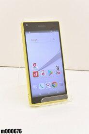 白ロム docomo SONY Xperia Z5 Compact 32GB Android7 イエロー SO-02H 初期化済 【m000676】 【中古】【K20190510】