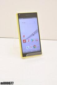 白ロム docomo SONY Xperia Z5 Compact 32GB Android7 イエロー SO-02H 初期化済 【m000677】 【中古】【K20190510】