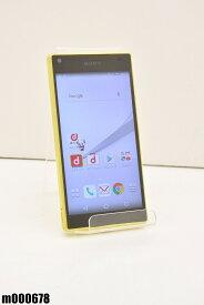 白ロム docomo SONY Xperia Z5 Compact 32GB Android6 イエロー SO-02H 初期化済 【m000678】 【中古】【K20190510】