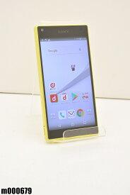 白ロム docomo SONY Xperia Z5 Compact 32GB Android7 イエロー SO-02H 初期化済 【m000679】 【中古】【K20190510】