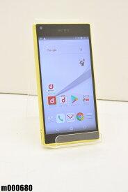 白ロム docomo SONY Xperia Z5 Compact 32GB Android7 イエロー SO-02H 初期化済 【m000680】 【中古】【K20190510】