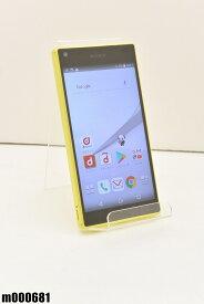 白ロム docomo SONY Xperia Z5 Compact 32GB Android7 イエロー SO-02H 初期化済 【m000681】 【中古】【K20190510】