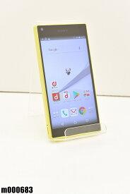 白ロム docomo SONY Xperia Z5 Compact 32GB Android7 イエロー SO-02H 初期化済 【m000683】 【中古】【K20190510】