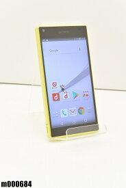 白ロム docomo SONY Xperia Z5 Compact 32GB Android7 イエロー SO-02H 初期化済 【m000684】 【中古】【K20190510】