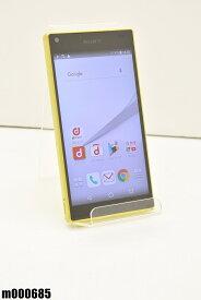 白ロム docomo SONY Xperia Z5 Compact 32GB Android7 イエロー SO-02H 初期化済 【m000685】 【中古】【K20190510】