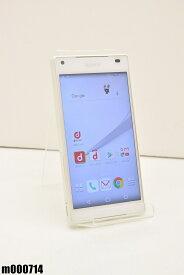 白ロム docomo SONY Xperia Z5 Compact 32GB Android6 ホワイト SO-02H 初期化済 【m000714】 【中古】【K20190510】