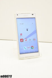 白ロム docomo SONY Xperia Z5 Compact 32GB Android6 ホワイト SO-02H 初期化済 【m000717】 【中古】【K20190510】