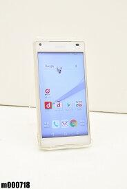 白ロム docomo SONY Xperia Z5 Compact 32GB Android6 ホワイト SO-02H 初期化済 【m000718】 【中古】【K20190510】
