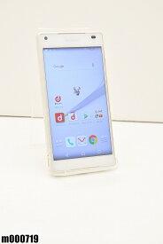 白ロム docomo SONY Xperia Z5 Compact 32GB Android6 ホワイト SO-02H 初期化済 【m000719】 【中古】【K20190510】