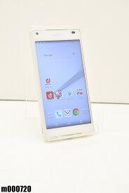 白ロム docomo SONY Xperia Z5 Compact 32GB Android6 ホワイト SO-02H 初期化済 【m000720】 【中古】【K20190510】