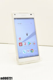 白ロム docomo SONY Xperia Z5 Compact 32GB Android7 ホワイト SO-02H 初期化済 【m000721】 【中古】【K20190510】