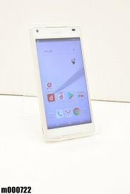 白ロム docomo SONY Xperia Z5 Compact 32GB Android7 ホワイト SO-02H 初期化済 【m000722】 【中古】【K20190510】