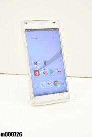 白ロム docomo SONY Xperia Z5 Compact 32GB Android7 ホワイト SO-02H 初期化済 【m000726】 【中古】【K20190510】