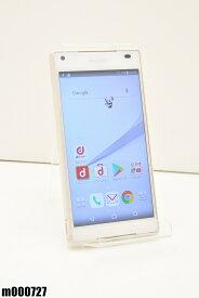 白ロム docomo SONY Xperia Z5 Compact 32GB Android7 ホワイト SO-02H 初期化済 【m000727】 【中古】【K20190510】