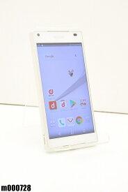 白ロム docomo SONY Xperia Z5 Compact 32GB Android7 ホワイト SO-02H 初期化済 【m000728】 【中古】【K20190510】