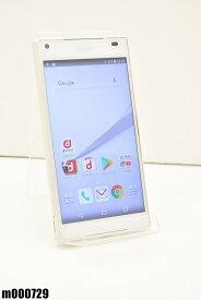 白ロム docomo SONY Xperia Z5 Compact 32GB Android7 ホワイト SO-02H 初期化済 【m000729】 【中古】【K20190510】