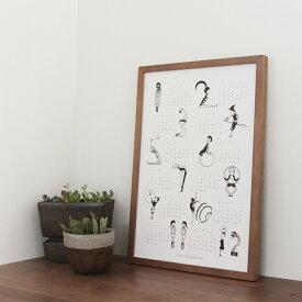2021年数字イラストポスターカレンダー[A3]/カレンダー/2021年/壁掛け/年間/おしゃれ/イラスト/かわいい/A3/アート/ポスター/年間カレンダー/インテリア