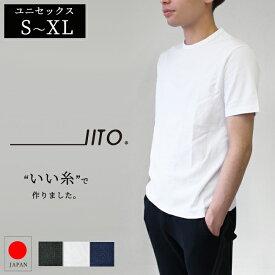 【日本製】IITO アーサ 半袖Tシャツ クルーネック Vネック SMIT-301 SMIT-302 綿100% ユニセックス レディース メンズ シンプル トップス 男女兼用 半袖 無地 ペア