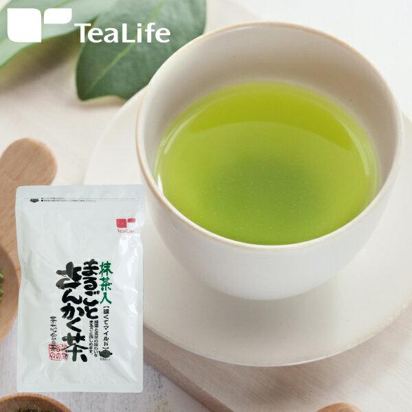 深蒸し茶 使用 ティーバッグ 静岡 カテキン テアニン まるごとさんかく茶(抹茶入り玄米茶) ポット用40個入り お茶 ティーライフ 日本茶 緑茶