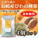 【送料無料】 小川生薬 長崎産びわの種茶 国産(長崎産) 5g×36袋 無漂白ティーバッグ 4個セット
