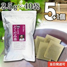 【送料無料】 厳選小川生薬 四国産みんなのどくだみ茶 国産(四国産) 2.5g×40袋 無漂白ティーバッグ 5個セットさらにもう1個プレゼント