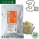 【送料無料】 厳選小川生薬 徳島産みんなの柿の葉茶 国産(徳島産) 3g×40袋 無漂白ティーバッグ 3個セット