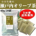 【DM便送料無料】 小川生薬 瀬戸内オリーブ茶 国産(四国産) 60g(3g×20袋) 無漂白ティーバッグ