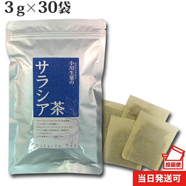 【DM便送料無料】 小川生薬 サラシア茶 インド産 3g×30袋 無漂白ティーバッグ