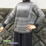 驚きの軽さの毛糸・アルパカレジェーログラデーションで編むスクエアラインのビッグセーターハマナカ・リッチモア手編みキット編み図編みものキット