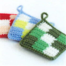 編み かぎ針 図 アクリル うずまき たわし
