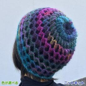 ドミナとドミナノームで編む立体的なリバーシブルの帽子&ネックウォーマー ダイヤモンド毛糸 人気キット 編み図 編みものキット