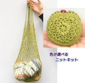 アプリコで編むコンパクトにたためるネットバッグ 手編みキット ハマナカ 編み図 編みものキット 人気キット