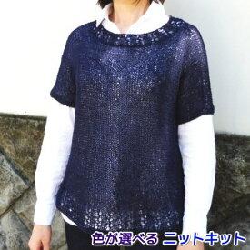 ナンテンで編む2本どりプルオーバー 手編みキット エクトリー 人気キット 編み図 編みものキット