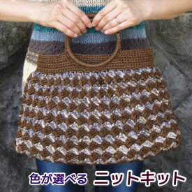 スーパー和紙リボンで作る石垣編みのバッグ 手編みキット 人気キット エクトリー