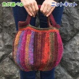 野呂英作のくれよんで編むふっくらしたフォルムのバッグ 手編みキット 人気キット 編み図 編みものキット