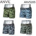 ANVIL 45mm Steel Belt Camouflage Boxer Brief ANV5205 メンズ ボクサーパンツ カモフラージュ ロゴ 下着 【nlife_d19】