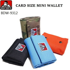 BEN DAVIS ミニウォレット 財布 レディース メンズ 小さめ 小さい財布 コンパクト 札入れ 小銭入れ ゴリラタグ プレゼント ギフト BDW-9312