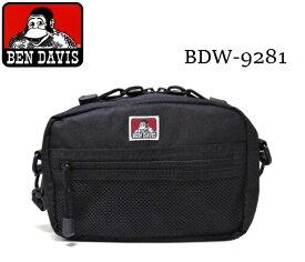 BEN DAVIS ショルダーバッグ メッシュポケット ポーチ カジュアル メンズ レディース 斜め掛けバッグ 『小さめサイズ』 BDW-9281 【】