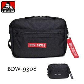BEN DAVIS ショルダーバッグ ボックスロゴ ポーチ カジュアル メンズ レディース 斜め掛けバッグ 『小さめサイズ』 BDW-9308 【】