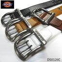 Dickies 40mm幅 PUレザーベルト メンズ レディース 合成皮革 ダブルピンベルト DS0126C