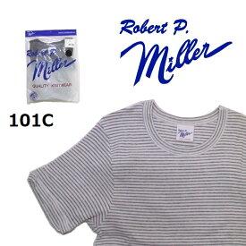 Robert P.Miller メンズ リブ クルーネック Tシャツ 半袖 綿100% 101C ロバート P ミラー