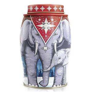 英国 Williamson Tea (ウィリアムソン・ティー) 紅茶 エレファント・キャディー缶 フローラル 親子缶 Winter Star(アールグレイ) 象缶 【並行輸入品】