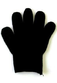 カラー軍手黒ブラック