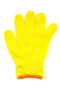 カラー軍手[小学校低学年]MIX黄色【今治タオルの糸】綿100%日本製ポイント2倍
