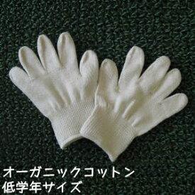 オーガニックコットン手袋[小学校低学年]日本製【今治タオルの糸】ポイント2倍