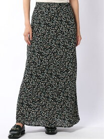 [Rakuten Fashion]Lugnoncure/小花柄シフォンマーメイドスカート Lugnoncure テチチ スカート スカートその他 ブラック ブラウン【送料無料】